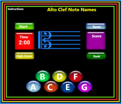 Alto Clef lines and spaces
